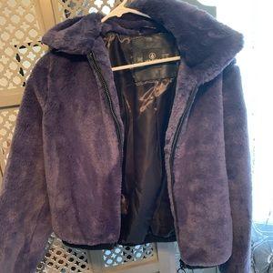 Blue Fuzzy Volcom jacket size sm
